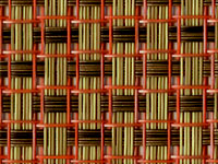Coral Topaz Phifertex® Cane Wicker & Waffle Wicker Fabric